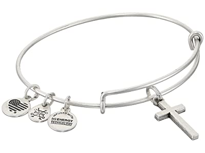 Alex and Ani Cross II Bangle (Rafaelian Silver) Bracelet