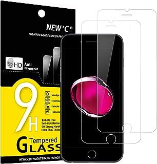 NEW'C Lot de 2, Verre Trempé Compatible avec iPhone 7 et iPhone 8, Film Protection écran sans Bulles d'air Ultra Résistant...