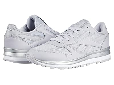 Reebok Lifestyle Classic Leather (Sterling Grey/Silver Metal/White) Women