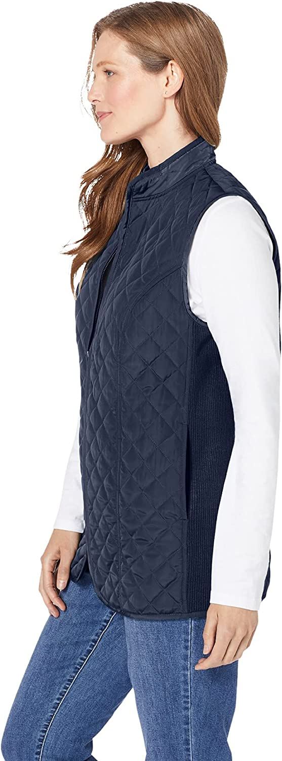 Woman Within Women's Plus Size Zip-Front Quilted Vest