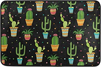 Mydaily Cute Cactus Succulents Doormat 15.7 x 23.6 inch, Living Room Bedroom Kitchen Bathroom Decorative Lightweight Foam ...