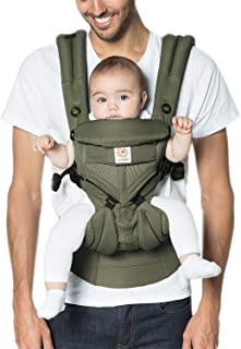 Ergobaby Carrier, Omni 360 All Carry Positions Baby Carrier with Cool Air Mesh, Khaki Green