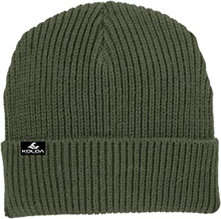 Koloa Surf Heavyweight Watch Hat Knit Ribbed Beanie Cap in 4 Colors