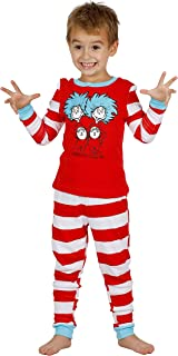 Dr. Seuss Cat in The Hat Thing 1 and Thing 2 Boys Cotton Pajamas Set, Size 4