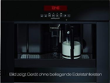 Küppersbusch EKV6750.0J1 Einbau-Kaffee-Vollautomat Profession+, 45cm, Design Schwarz, inkl. echter Milchfunktion, LED-Beleuchtung und Edelstahl Designkit