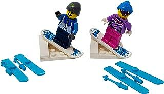 LEGO Male and Female Winter Sports Couple - Custom Snowboard and Ski Minifigures