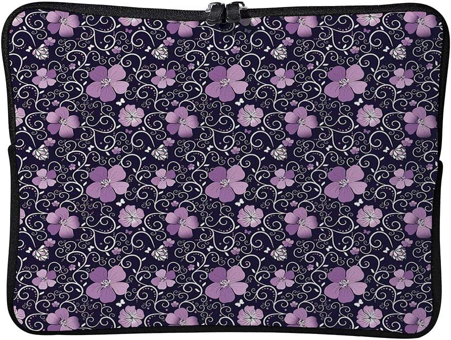 Simplistic Abstract Pastel Flowers Cushion Protective Waterproof Laptop Case Bag Sleeve for Laptop AM013141 17 inch//17.3 inch C COABALLA Floral