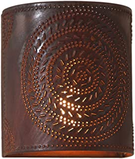 Irvin's Country Tinware 724CRT - Chisel Pattern One-Light Wall Sconce in Rustic Tin