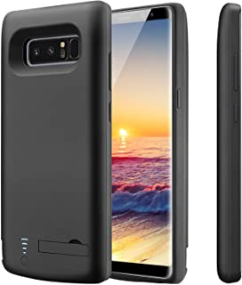 PEYOU Compatible for Galaxy Note 8 Battery Case,6500mAh Slim TPU Frame Protective Charger Rechargeable Extended Power Bank Type C Charging Battery Case w/Kickstand Compatible for Samsung Galaxy Note 8