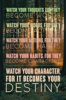 Watch Your Thoughts Forest Motivational Cool Wall Decor Art Print Poster 12x18