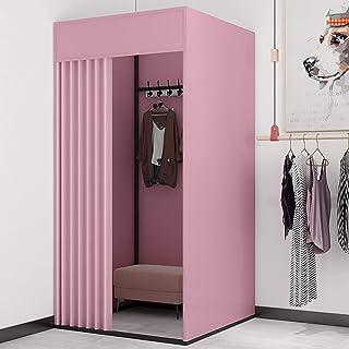 YXYECEIPENO Vestiaire mobile simple pour vestiaire ou vestiaire avec tuyau de protection de l'environnement, stable et fia...