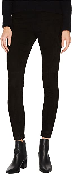 Vince - Stretch Suede Zip Ankle Leggings