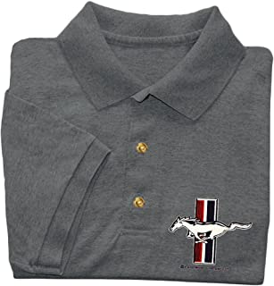 Ford Mustang polo shirt Men's ford polo golf shirt gray t-shirt