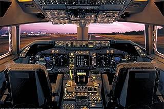 747 cockpit poster