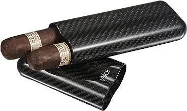Visol Products Night II Carbon Fiber Large Cigar Case - 2 Finger