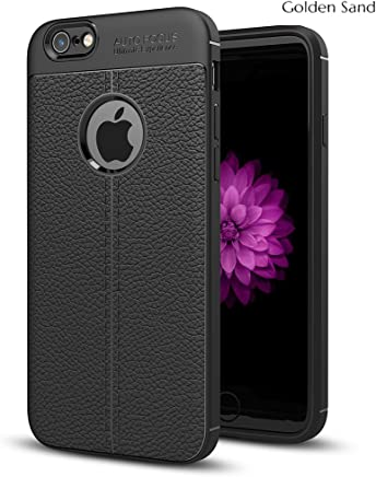 Golden Sand Apple iPhone 6s / 6 Cover Premium Leather Texture Series Armor Shockproof TPU Back Cover Case for iPhone 6s / 6 Mobile Royal Black
