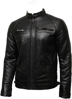 Infinity Mens Leather Biker Jacket Genuine Leather Bomber Jacket Designer
