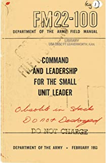 FM 22-100 1953 Command and leadership for the small unit leader