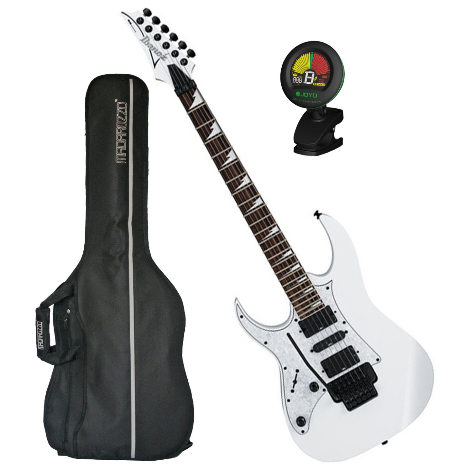 Cheap Ibanez RG450DX Electric Guitar White (Left Handed) w/ Gig Bag and Tuner! Black Friday & Cyber Monday 2019