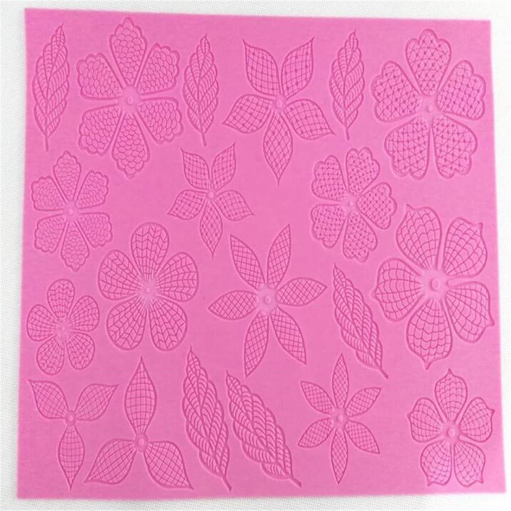US Lace Floral Pattern Silicone Mold Mat for Cake Decorating DIY Baking Mould HQ