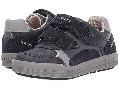Geox Kids Jr Arzach 17 (Little Kid) (Navy/Grey) Boys Shoes