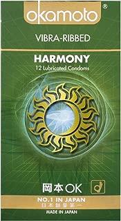Okamoto Harmony Vibra Ribbed Condoms, 12 ct