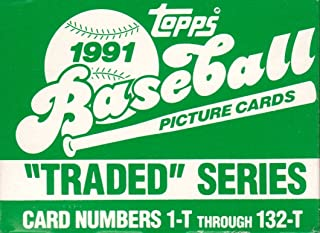 1991 Topps Traded MLB Baseball Factory Sealed 132 Card Set Complete M (Mint)