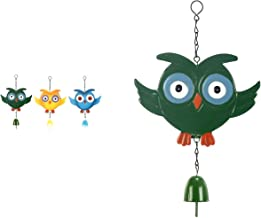 Bosphorus Owl Shaped Wind Chime Green Color