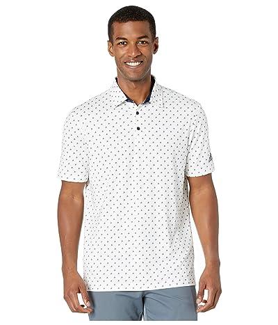 adidas Golf Ultimate365 Badge of Sport Polo Shirt (White/Collegiate Navy) Men