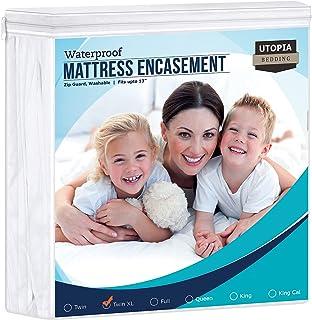 Utopia Bedding Zippered Mattress Encasement - Bed Bug Proof, Dust Mite Proof Mattress Cover - Waterproof Mattress Protecto...