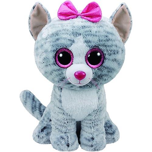 a07b6e5de5b Ty 36838 Kiki Cat Plush Toy with Glitter Eye Glubschi s Beanie Boo s