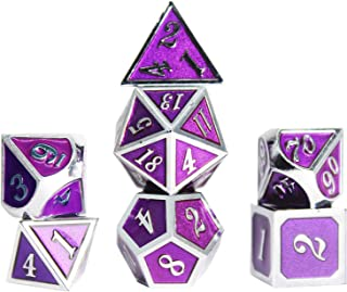 WUXINGMEILI Metal Game Dice Set with Metal Box for Role Playing Game