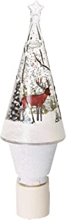 Midwest-CBK Deer in Woods Rustic Shimmer Night Light Electric