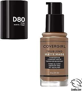 Covergirl Trublend Matte Made Liquid Foundation, D80 Soft Sable, 1 Fl Oz