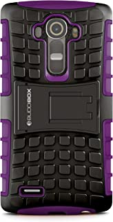LG G4 Case, BUDDIBOX [Wave] Slim Rugged Durable Protective Case with Kickstand for LG G4, (Purple)