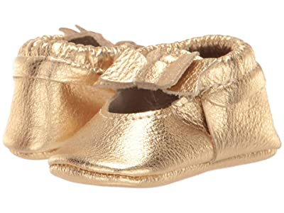 Freshly Picked Gold Ballet Flat Bow Mocc (Infant/Toddler) (Gold) Girl