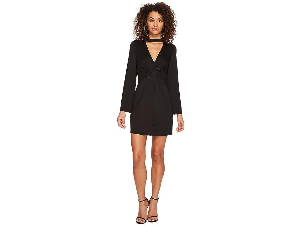 kensie Viscose Jersey Dress KSDU7068 (Black) Women