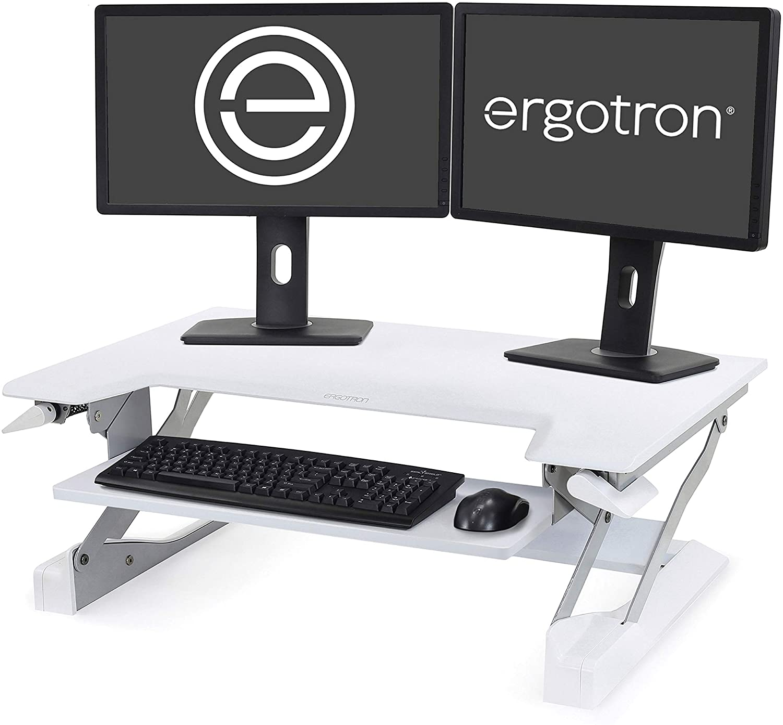 Ergotron - WorkFit-T Standing Desk Converter - for Tabletops – 35 Inches, White