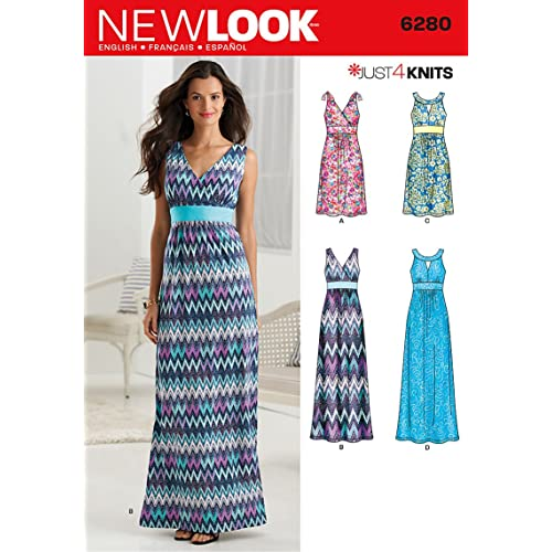 29f17629b8e2e New Look 6280 Size A Misses' Knit Dress in 2 Lengths with Bodice Variations  Sewing