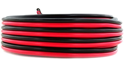 SELECT THE LENGTH RED AND BLACK 12V 20 AMP CAR SPEAKER HEAVY DUTY 2 CORE CABLE