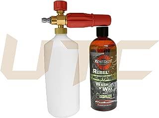 UTC Pro Kit Foam Cannon 32 Oz Capacity & Rebel Moneyshot Wash N' Wax Carnauba USA Soap (24oz Bottle) Suds Formula