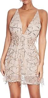 Women's Inspired Sequins Embellished Fringe Gatsby 1920s V Neck Club Prom Dress