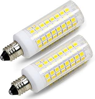 [2-Pack] E11 led Bulb, 100W Equivalent Halogen Replacement Lights, Dimmable, Mini Candelabra Base, 850 Lumens Daylight White 6000K, AC110V/120V, e11 Light Bulb. (E11 102CW)