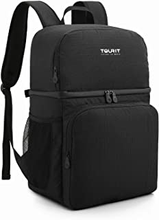 TOURIT Insulated Cooler Backpack Double Deck Light Lunch Backpack with Cooler Compartment for Men Women to Work, Picnics, Hiking, Beach, Park or Day Trips