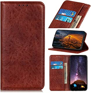 For Xiaomi Redmi 8 Magnetic Retro Crazy Horse Texture Horizontal Flip Leather Case with Holder & Card Slots New (Black) Lipangp (Color : Brown)