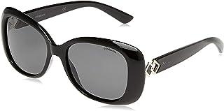 نظارات شمسية للنساء من بولارويد بتصميم مستطيل لون اسود PLD 4051/S
