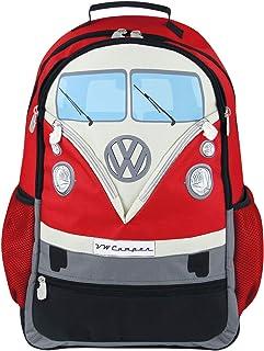 BRISA VW Collection - Volkswagen Bus T1 Camper Van Kombi School, Travel Backpack (L/Red)