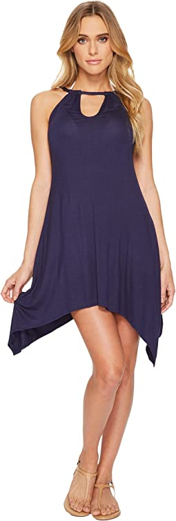 Lucky Brand - Hidden Gem High Neck Swing Dress Cover-Up