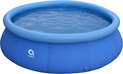 JLeisure Avenli 17807 10 Foot x 30 Inch 2 to 3 Person Capacity Prompt Set Above Ground Kid Inflatable Outdoor Backyard Swimming Pool, Blue