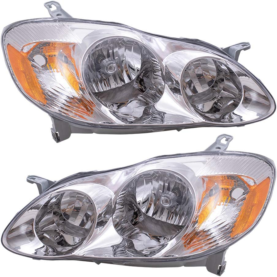Brock Replacement Driver チープ and 激安 激安特価 送料無料 Headlamps Passenger Comp Headlights
